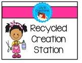 Recycled Creation Station For Young Children