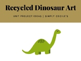 Recycled Dinosaur Art