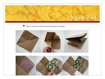 Recycled Origami mini Book