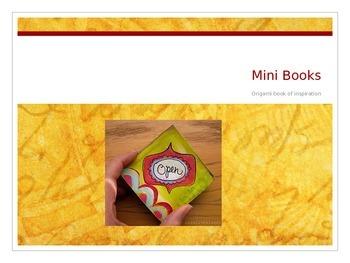 Recycled Origami mini Book