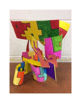 Recycled Paper Abstract Sculptures