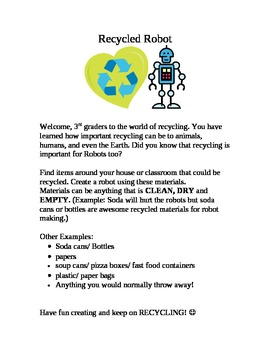 Recycled Robot Project/ Activity