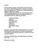 Recycled Robots Parent Letter