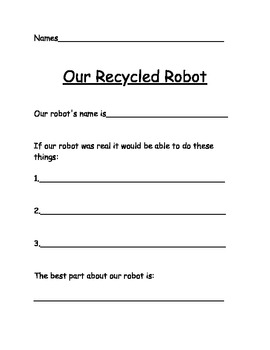 Recycled Robots Response Sheet