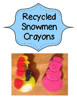 Recycled Snowmen Crayon Gift Tags