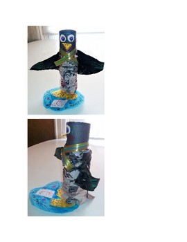 Recycled Water Bottle Penguin Puppets