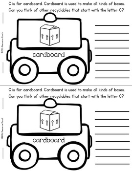 Recycling Earh Day Printable Book