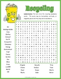 Earth Day Worksheet - Recycling Word Search