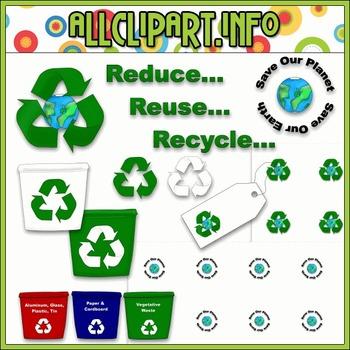 $1.00 BARGAIN BIN - Recycling Accents Clip Art