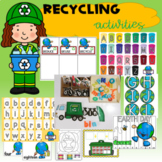 Recycling Activities Center Mats and Worksheets #goldenmedaldeals