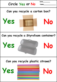 Recycling Activity for Autism