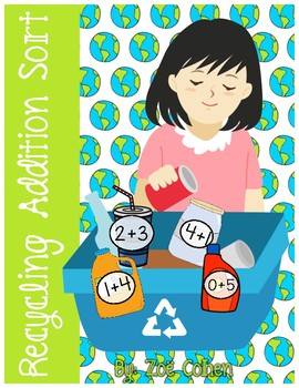 Recycling Addition Sort (An Earth Day FREEBIE!!)