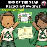 Recycling Awards End of the Year Editable
