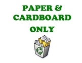 Recycling Bin Signs