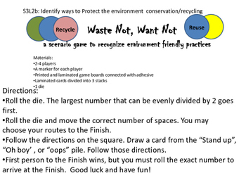 Recycling Board Game Waste Not Want Not