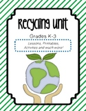Recycling : Bundle of Lesson Plans, Activities, Printables and more!