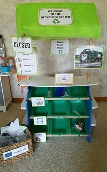 Recycling Center Dramatic Play Pack for Pre-K, Preschool and Tots
