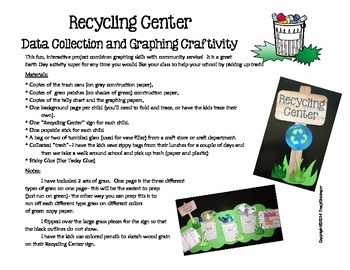 Recycling Center Graphing Craftivity