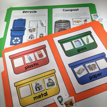 Recycling Center and File Folder Games