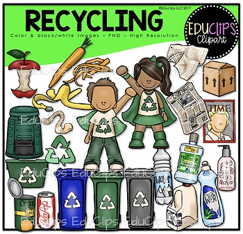 Recycling Clip Art Bundle {Educlips Clipart}