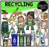 Recycling Clip Art Bundle {Educlips Clipart}