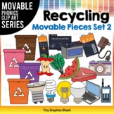 Recycling Clip Art Movable Pieces Set 2