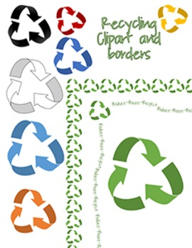 Recycling Clip Art and Border