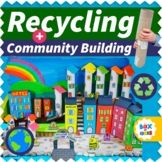 Reduce Reuse Recycled City Art Craft Project (Fun Classroom Community Building)