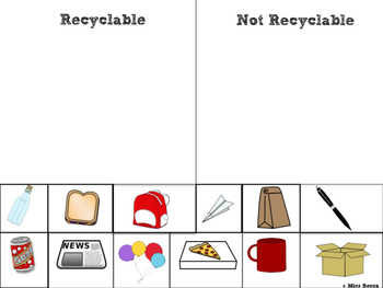 Recycling Cut and Sort (No Prep!) (Perfect for Earth Day!)