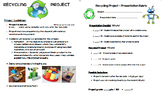 Recycling Project - Rubric and Reflection (Earth Day, Reduce, Reuse, Recyle)