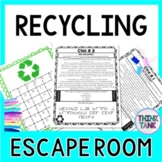 Recycling ESCAPE ROOM - Perfect for Earth Day! Reduce, Reuse, Recycle