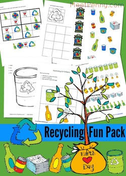 Recycling Earth Day Printable Activites and Coloring Pages