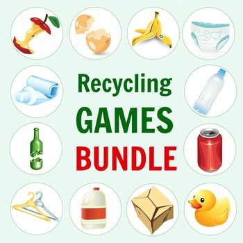Recycling Games Printable BUNDLE for Earth Day