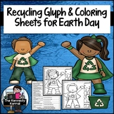 Recycling Glyph and Coloring Sheets for Earth Day