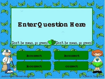 Recycling Kids PowerPoint Game Template