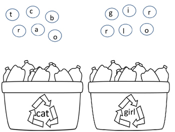 Recycling Kindergarten Sight Words