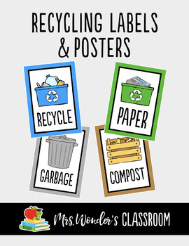 Recycling Labels - Reduce, Reuse, Recycle - Earth Day Activity