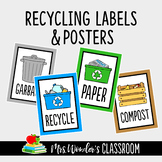Recycling Labels - Reduce, Reuse, Recycle - Earth Day Activity - Recycle Posters