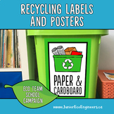 Recycling Labels, Turn off the lights, Recycling Posters,