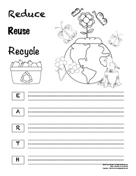 Recycling Letters the Earth Day Way!