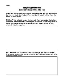 Recycling Math Task: Area & Perimeter