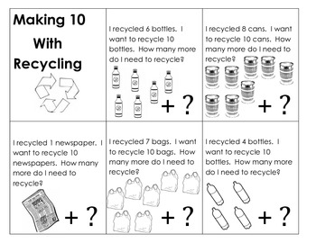 Recycling Missing Addend Word Problems (Making 10 with Word Problems)