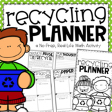 Recycling Planner for Earth Day {A Project Based Learning