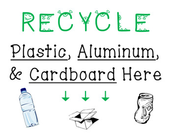 Recycling Posters - CUSTOM Orders Accepted