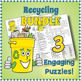 Earth Day BUNDLE - Recycling Vocabulary Puzzles