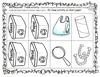 Recycling - Recycle sort Activities