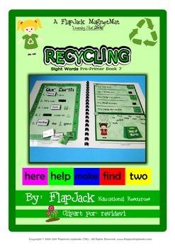 Recycling Sight Word MagnetMat Fun