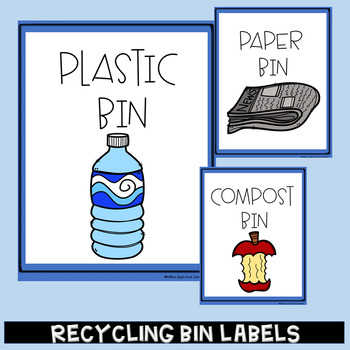 Recycling Poster Labels Reduce Reuse Recycle Activities Classroom Decor
