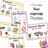 Recycling, Soft Plastic, Organics & Landfill Bin Signage -
