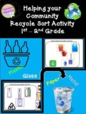 Recycling Sort Google Classroom Activity| K-2nd Grade| How to recycle fun!